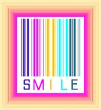 Sonrisa de codigo de barras Foto de archivo libre de regalías