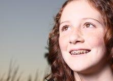 Sonrisa de Headshot Foto de archivo libre de regalías