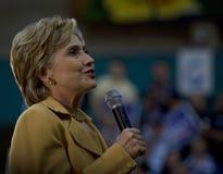 Sonrisa de Hillary Clinton Imágenes de archivo libres de regalías