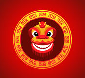 Sonrisa de la cabeza del león en Año Nuevo chino Foto de archivo