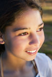 Sonrisa de la chica joven fotos de archivo libres de regalías
