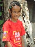 Sonrisa de la chica joven Fotos de archivo