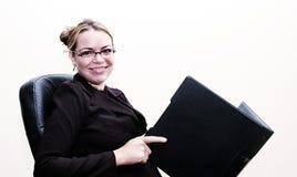 Sonrisa de la empresaria fotografía de archivo libre de regalías