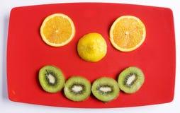 Sonrisa de la fruta Foto de archivo libre de regalías