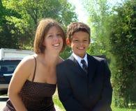 Sonrisa de la madre y del hijo Imagenes de archivo