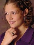 Sonrisa de la muchacha imagen de archivo libre de regalías
