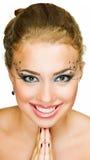Sonrisa de la muchacha de la belleza Imagen de archivo libre de regalías