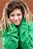 Sonrisa de la muchacha de Rasta Fotografía de archivo libre de regalías