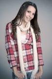 Sonrisa de la muchacha del invierno Imagen de archivo libre de regalías