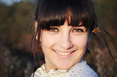 Sonrisa de la muchacha del país Imagen de archivo libre de regalías