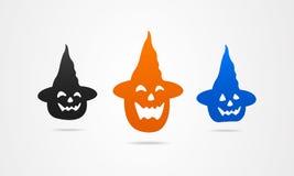 Sonrisa de la muestra de los símbolos de los iconos del día de fiesta de Halloween Imagen de archivo