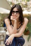 Sonrisa de la mujer Foto de archivo libre de regalías