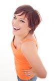 Sonrisa de la mujer bastante joven Imagen de archivo libre de regalías