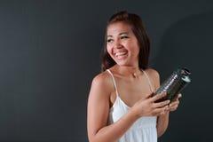Sonrisa de la mujer de la belleza Imagen de archivo libre de regalías