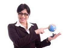 Sonrisa de la mujer de negocios Foto de archivo libre de regalías