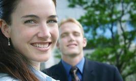 Sonrisa de la mujer de negocios imagenes de archivo
