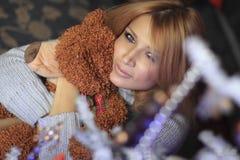 Sonrisa de la Navidad Imagenes de archivo