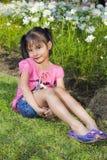 Sonrisa de la niña Fotografía de archivo libre de regalías