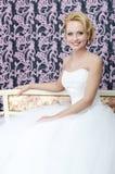 Sonrisa de la novia. Centro envejecido Fotos de archivo