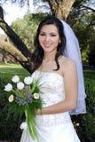 Sonrisa de la novia de la boda foto de archivo libre de regalías