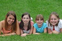 Sonrisa de las muchachas Fotografía de archivo