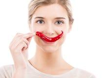 Sonrisa de las pimientas de chiles Fotos de archivo libres de regalías