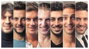 Sonrisa de los hombres imagenes de archivo