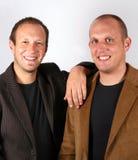 Sonrisa de los hombres de negocios Foto de archivo libre de regalías