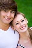 Sonrisa de los pares Foto de archivo libre de regalías