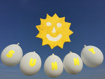 Sonrisa de Sun en el cielo fotografía de archivo libre de regalías
