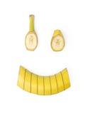 Sonrisa de un plátano Foto de archivo libre de regalías