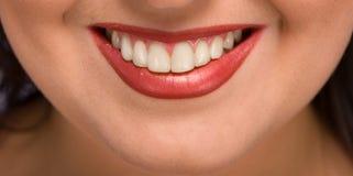 Sonrisa de Womans Imagen de archivo