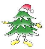 Sonrisa del árbol de navidad imagenes de archivo