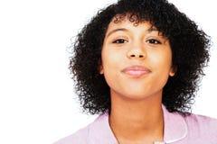 Sonrisa del adolescente de la raza mezclada Foto de archivo libre de regalías