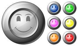 Sonrisa del botón de la esfera Foto de archivo