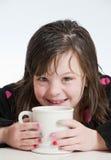 Sonrisa del chocolate caliente Imagen de archivo libre de regalías
