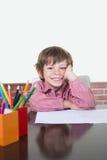 Sonrisa del escolar Foto de archivo libre de regalías