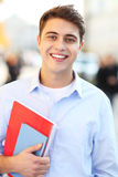 Sonrisa del estudiante masculino Imágenes de archivo libres de regalías