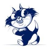 Sonrisa del gato de la historieta Imagenes de archivo