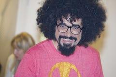 Sonrisa del golpeador del caparezza del cantante de Italioan imágenes de archivo libres de regalías