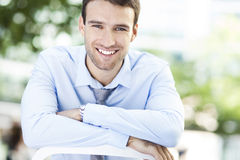 Sonrisa del hombre de negocios Fotos de archivo libres de regalías