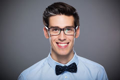 Sonrisa del hombre joven Foto de archivo libre de regalías