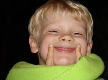 sonrisa del mantiene Imágenes de archivo libres de regalías