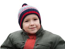 Sonrisa del pequeño niño Imágenes de archivo libres de regalías