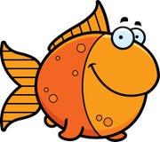 Sonrisa del pez de colores de la historieta Fotografía de archivo