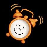 Sonrisa del reloj de alarma Fotografía de archivo libre de regalías