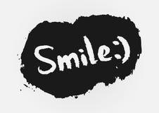 ¡Sonrisa del texto! , cepillo áspero pintado Imágenes de archivo libres de regalías