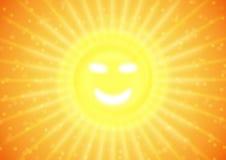 Sonrisa del verano en el sol stock de ilustración