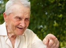 Sonrisa del viejo hombre Fotografía de archivo libre de regalías