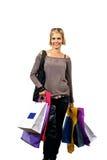 Sonrisa en compras Foto de archivo libre de regalías